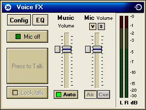 Voice FX Window in SAM