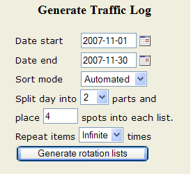 Generate Traffic Log