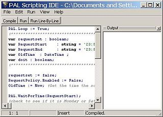 SAM Broadcaster's PAL IDE Window