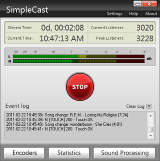 SimpleCast's Main Window
