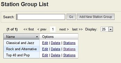 Station Group List